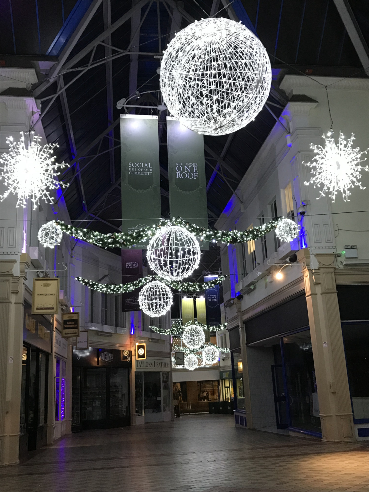 New festive lighting schemes installed in Somerset, Devon, Cornwall and Herefordshire