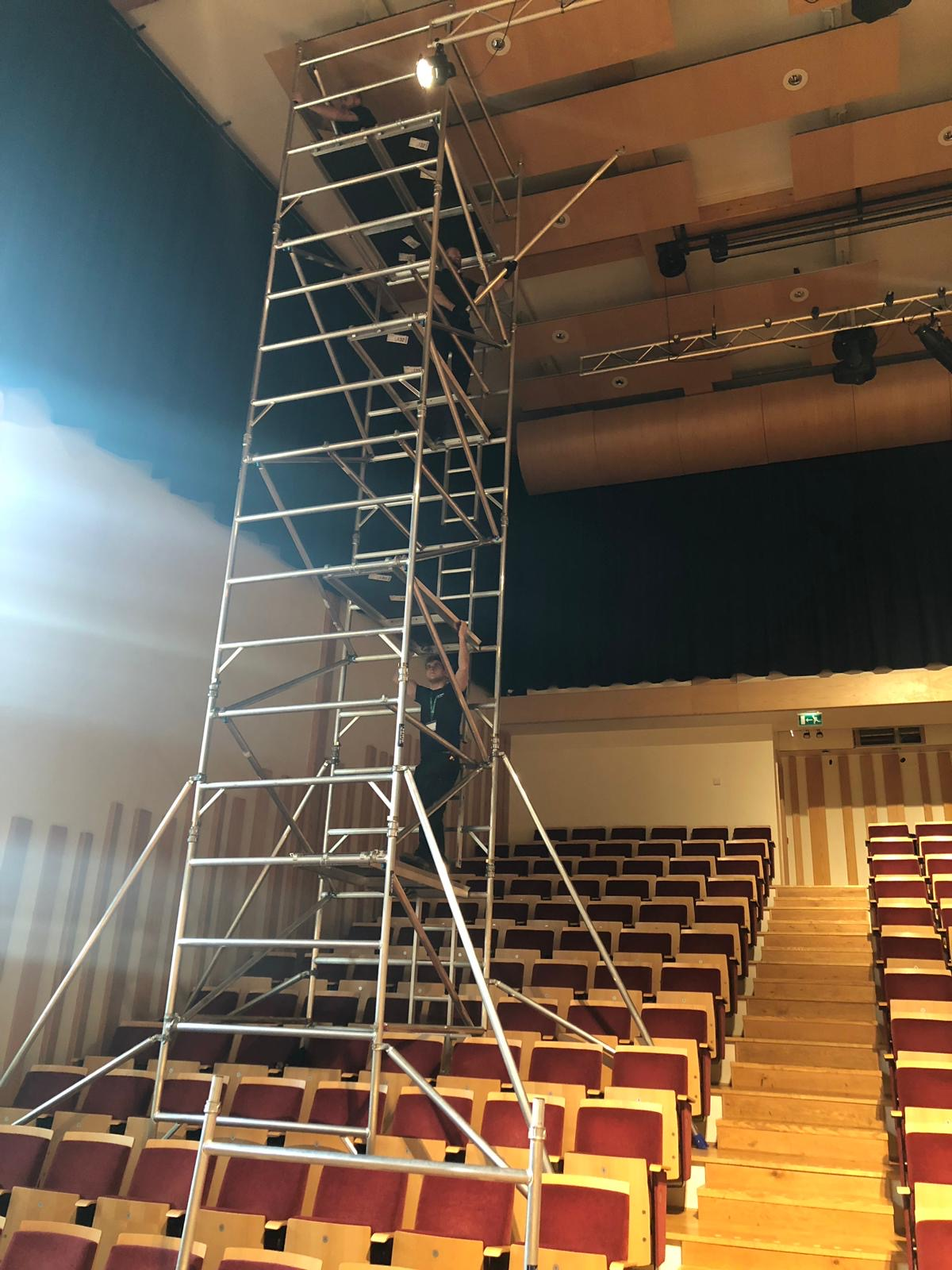 New 11 metre scaffold tower increases our high level capabilities in Somerset.